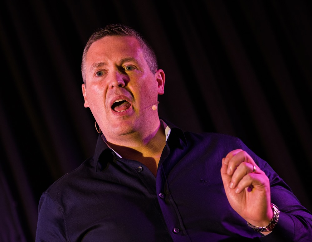 Stephen Downey speaking at TEDx Ballyroan Library 2019